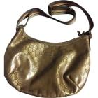 Sac en bandoulière en tissu GUCCI Doré, bronze, cuivre