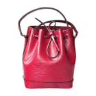 Leather Shoulder Bag LOUIS VUITTON Noé Pink, fuchsia, light pink