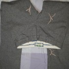 Pantalon droit ABERCROMBIE & FITCH Gris, anthracite