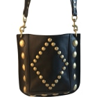 Leather Shoulder Bag ISABEL MARANT Black