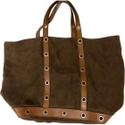 Non-Leather Shoulder Bag VANESSA BRUNO Khaki
