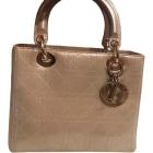 Leather Handbag DIOR Gray, charcoal