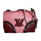 Sac en bandoulière en cuir LOUIS VUITTON Twist Rouge, bordeaux