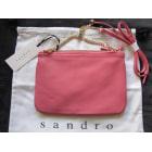 Leather Clutch SANDRO Pink, fuchsia, light pink