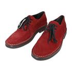 Chaussures à lacets ANN DEMEULEMEESTER Rouge, bordeaux