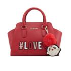 Leather Handbag LOVE MOSCHINO Red, burgundy