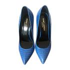 Pumps, Heels SAINT LAURENT Blue, navy, turquoise