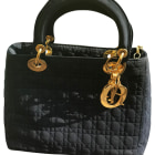 Non-Leather Handbag DIOR LADY DIOR Blue, navy, turquoise