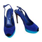 Peeptoes SERGIO ROSSI Blau, marineblau, türkisblau