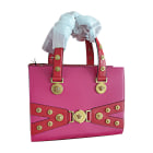 Leather Handbag VERSACE Pink, fuchsia, light pink