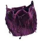 Leather Handbag SÉZANE Purple, mauve, lavender