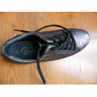 Lace Up Shoes BATA Golden, bronze, copper