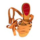 Flat Sandals CHRISTIAN LOUBOUTIN Yellow