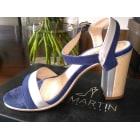 Escarpins à bouts ouverts JB MARTIN Bleu, bleu marine, bleu turquoise