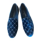 Loafers CHANEL Blue, navy, turquoise