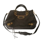 Leather Shoulder Bag BALENCIAGA Black