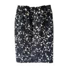 Midi Skirt YVES SAINT LAURENT Downtown Imprimé noir et blanc