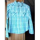Chemise MIM turquoise et blanc