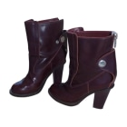 Biker Ankle Boots CHLOÉ Red, burgundy