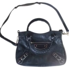Leather Shoulder Bag BALENCIAGA City Black