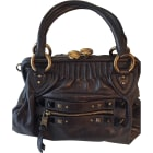 Leather Handbag MARC JACOBS Gray, charcoal