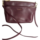 Leather Shoulder Bag FURLA Bordeau