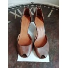 Peep-Toe Pumps ISABEL MARANT Brown
