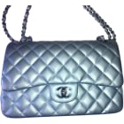 Leather Shoulder Bag CHANEL Timeless Blue, navy, turquoise