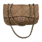 Leather Shoulder Bag CHANEL Beige, camel