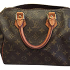 Leather Handbag LOUIS VUITTON Speedy Brown