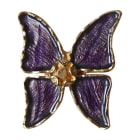 Brooch YVES SAINT LAURENT Purple, mauve, lavender