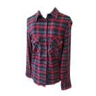 Shirt ZADIG & VOLTAIRE Carreaux marine et rouge foncés