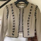 Leather Zipped Jacket MICHAEL KORS Beige, camel