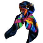 Silk Scarf YVES SAINT LAURENT Multicolor