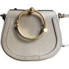Leather Shoulder Bag CHLOÉ Motty grey