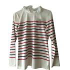 Top, T-shirt CLAUDIE PIERLOT White, off-white, ecru