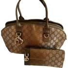 Non-Leather Handbag GUCCI Brown