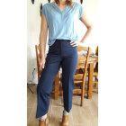 Pantalon large VINTAGE Bleu, bleu marine, bleu turquoise