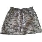 Mini Skirt MAJE Gray, charcoal