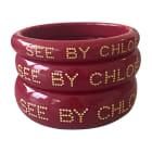 Bracelet SEE BY CHLOE Rouge, bordeaux