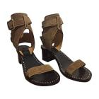 Sandales à talons ISABEL MARANT Beige, camel