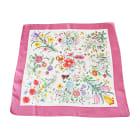 Silk Scarf GUCCI Pink, fuchsia, light pink