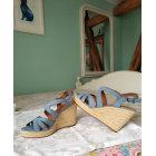 Sandales compensées TAMARIS Bleu, bleu marine, bleu turquoise