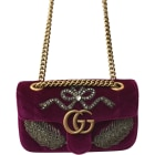 Stoffhandtasche GUCCI Marmont Rot, bordeauxrot