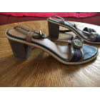 Sandales à talons TOMMY HILFIGER Bleu, bleu marine, bleu turquoise