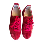 Lace Up Shoes CHRISTIAN LOUBOUTIN Red, burgundy