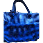Leather Handbag CHRISTIAN LOUBOUTIN Blue, navy, turquoise