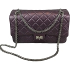 Leather Shoulder Bag CHANEL Purple, mauve, lavender