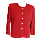 Jacket YVES SAINT LAURENT Red, burgundy