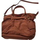 Leather Handbag VANESSA BRUNO Camel roux